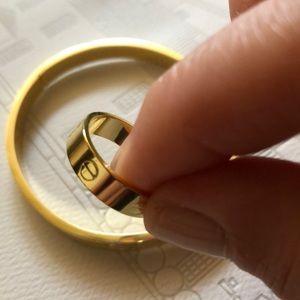 18k gold plated bracelet and ring set